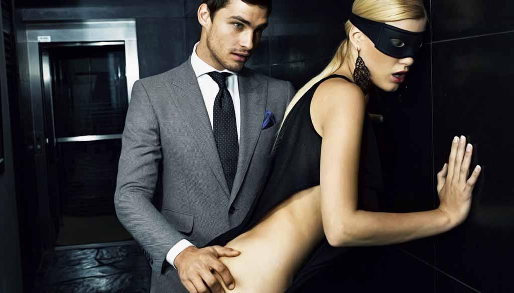 Секс с мужиком женской одежде